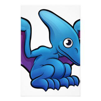 Pterodactyl Dinosaur Cartoon Character Stationery