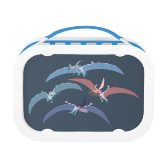 Pterodactyl Group Graphic Lunch Box