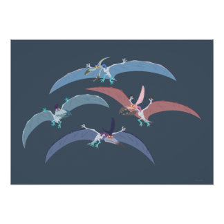 Pterodactyl Group Graphic Poster