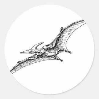 Pterodactyl Classic Round Sticker
