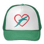 Pterosaur Heart Cap
