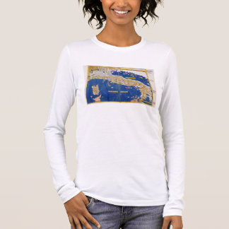 Ptolemaic Map of Italy, 1482 (coloured litho) Long Sleeve T-Shirt