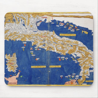 Ptolemaic Map of Italy, 1482 (coloured litho) Mouse Mat