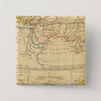Ptolemy's Geography 15 Cm Square Badge