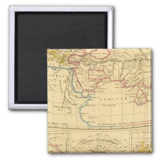 Ptolemy's Geography Square Magnet
