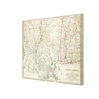 Pts of Louisiana, Ark, Miss, Ala, Florida Canvas Print