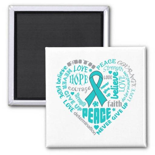 PTSD Awareness Heart Words Magnet