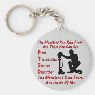 PTSD The Monsters I Run From Are Inside of Me Basic Round Button Key Ring