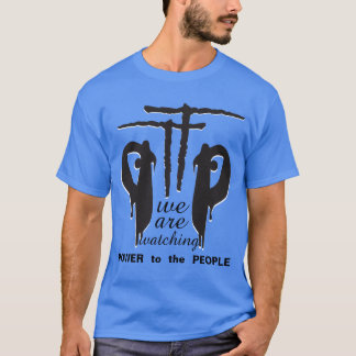 PTTP - Power to the People Logo Blue T-Shirt