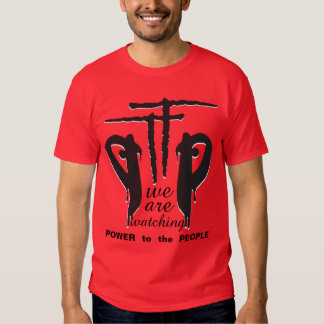 PTTP - Power to the People Logo Red Tee Shirt