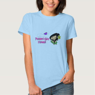 Pualani Girl Hawaii - Baby Doll T (fitted) T Shirt