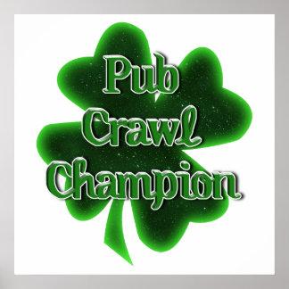Pub Crawl Champion Print