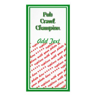 Pub Crawl Champion Text Image Picture Card