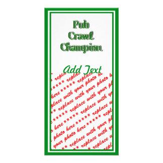 Pub Crawl Champion Text Image Picture Card