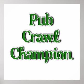Pub Crawl Champion Text Image Print