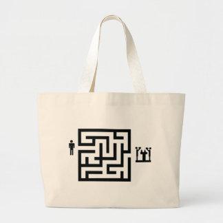 pub labyrinth icon tote bags