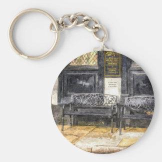 Pub Resting Place Art Basic Round Button Key Ring
