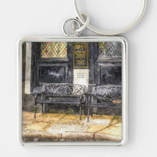Pub Resting Place Art Key Ring