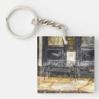 Pub Resting Place Art Single-Sided Square Acrylic Key Ring