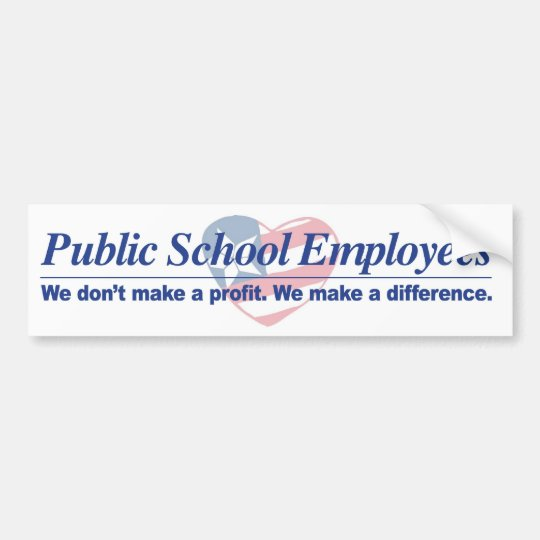 Pub. Schl Employees Make Difference Bumper Sticker