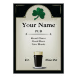 Pub Sign, Irish Pub, Personalised Poster