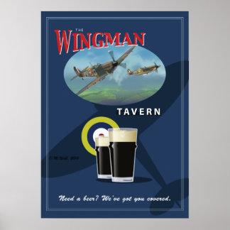 "Pub Sign, ""The Wingman Tavern"" Poster"
