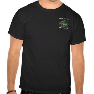 Pub Style Irish Shamrock Staff Logo Black T-Shirt
