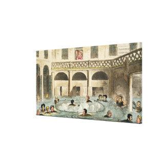 Public Bathing at Bath, or Stewing Alive, print pu Canvas Prints