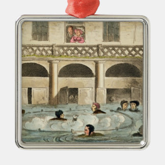 Public Bathing at Bath, or Stewing Alive, print pu Christmas Ornament