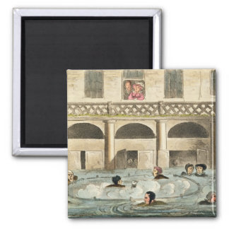 Public Bathing at Bath, or Stewing Alive, print pu Magnet