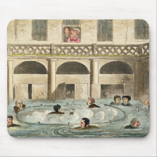 Public Bathing at Bath, or Stewing Alive, print pu Mouse Mat
