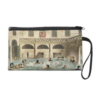 Public Bathing at Bath, or Stewing Alive, print pu Wristlet