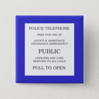 Public Call Box sign 15 Cm Square Badge