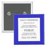 Public Call Box sign 15 Cm Square Badge