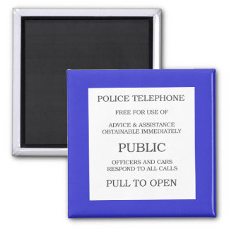 Public Call Box sign Square Magnet