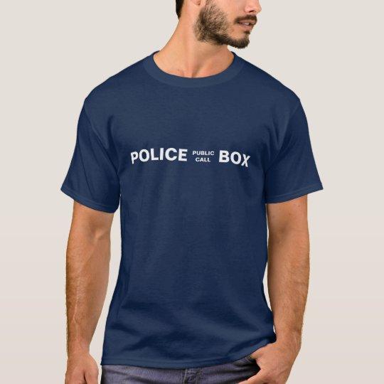 Public Call Police Phone Box T-Shirt