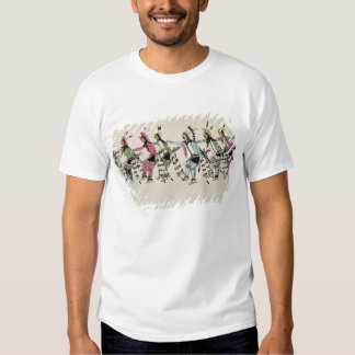 Public dance in honour of the warrior He Dog (ink Tee Shirt