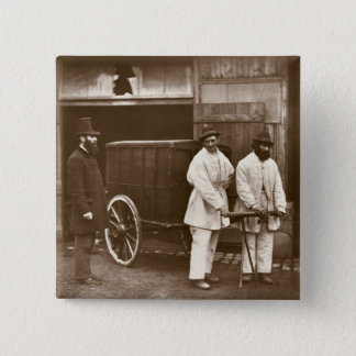 Public Disinfectors, from 'Street Life in London', 15 Cm Square Badge