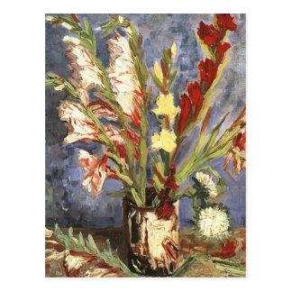 Public Domain Van Gogh Vintage Flower Image Postcard