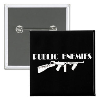 Public Enemies Machine Gun 15 Cm Square Badge