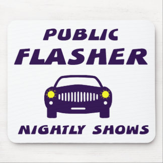 Public Flasher Mouse Mat