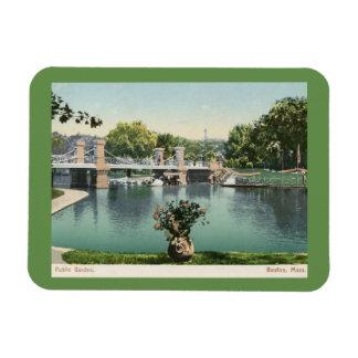 Public Garden, Boston 1905 Vintage Magnet
