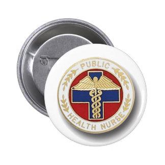 Public Health Nurse 6 Cm Round Badge