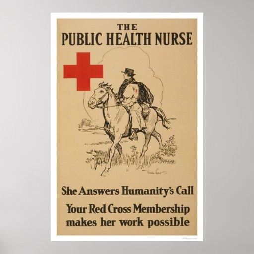 Public Health Nurse - She answers humanity's call Print