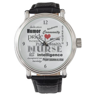Public Health Nurse-Word Cloud+Red Heart Watch