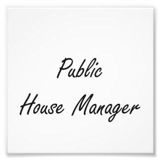 Public House Manager Artistic Job Design Art Photo