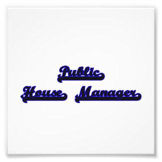 Public House Manager Classic Job Design Art Photo