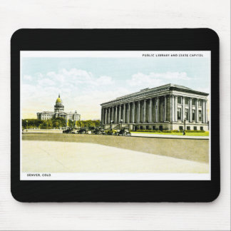 Public Library and State Capitol, Denver, Colorado Mouse Pad