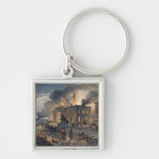 Public Library and Temple of the Winds, plate from Silver-Colored Square Key Ring