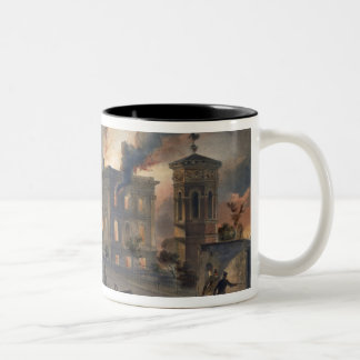 Public Library and Temple of the Winds, plate from Two-Tone Coffee Mug